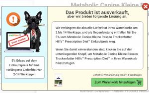 Ausverkauftrabatt bei VetPlan.ch